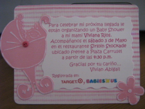 texto para invitaciones de baby shower. Invitacion para Baby Shower